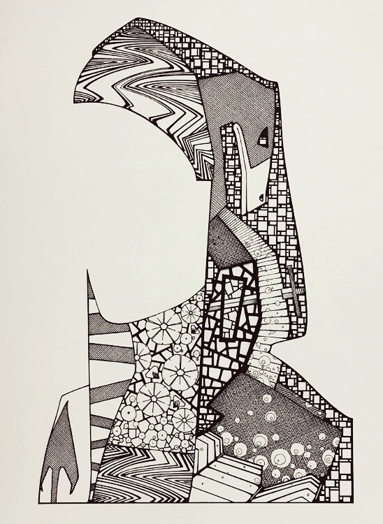 Untitled, 40_30cm, pen and ink on paper 2019